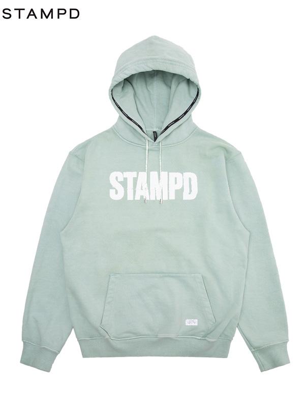 画像1: 【STAMPD - スタンプド】Split Hoodie / Green (パーカー/グリーン) (1)