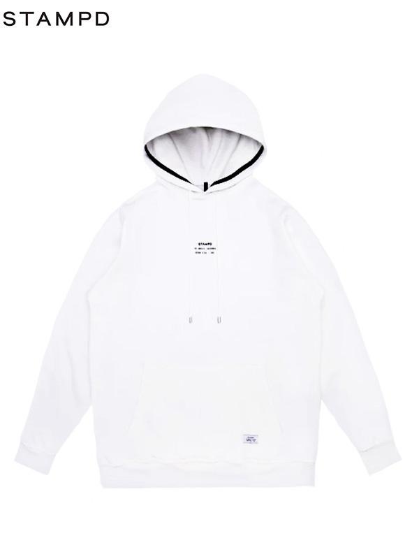 画像1: 【STAMPD - スタンプド】Stacked Logo Hoodie / White (パーカー/ホワイト) (1)