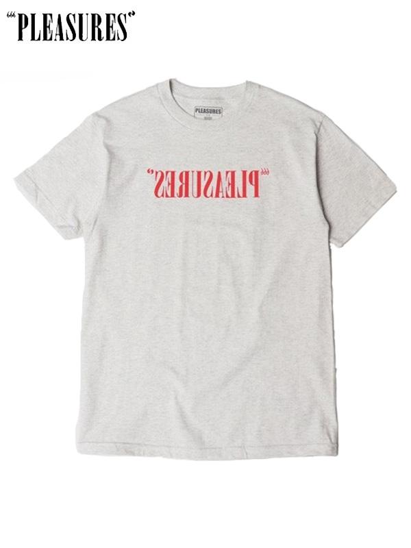 画像1: 【PLEASURES - プレジャーズ】FLIPPED LOGO T-SHIRT / Grey (Tシャツ/グレー) (1)