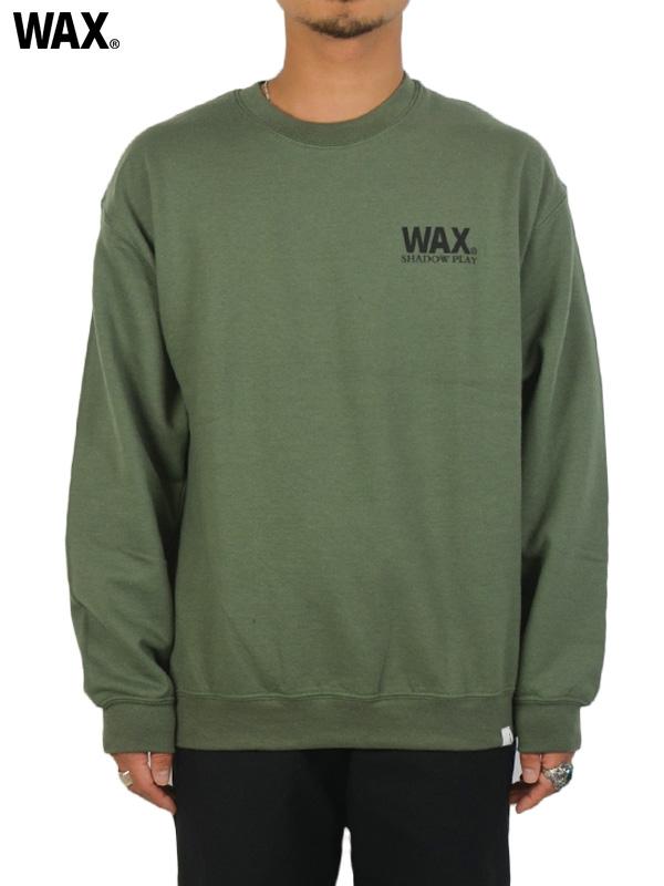 画像1: 【WAX - ワックス】Zigzag crew sweat / Khaki(スウェット/カーキ)  (1)