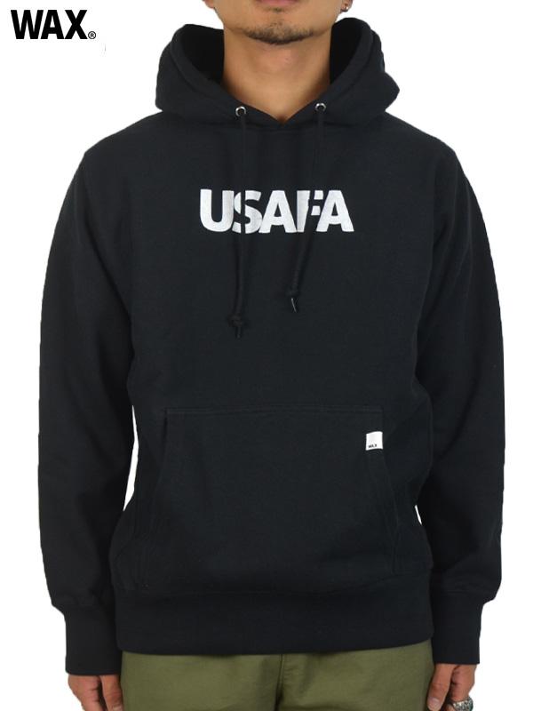 画像1: 【WAX - ワックス】USAFA hoodie / Black(フーディー/ブラック)  (1)