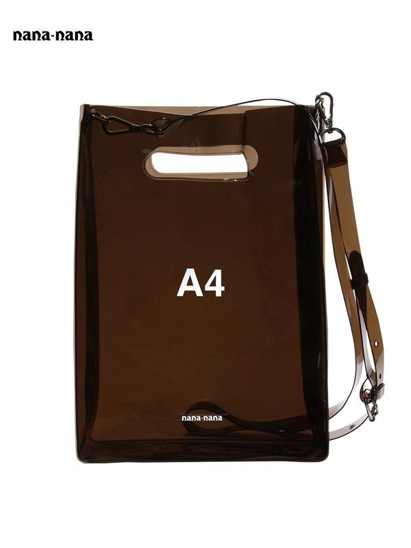 画像1: 【nana-nana - ナナ ナナ】A4 Clear Bag / Black(ショルダーバッグ/ブラック) (1)