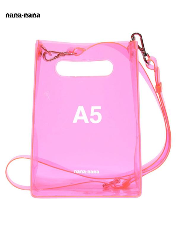 画像1: 【nana-nana - ナナ ナナ】A5 Clear Bag / Neon Pink(ショルダーバッグ/ネオンピンク) (1)