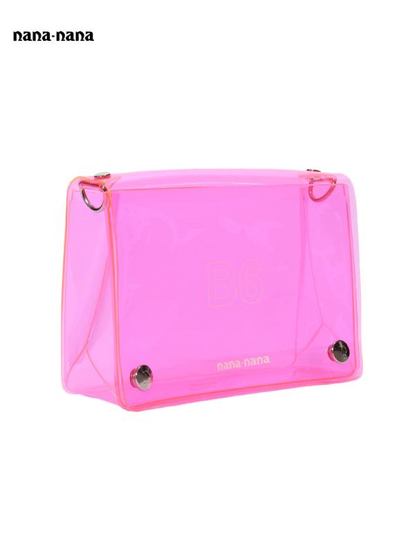 画像1: 【nana-nana - ナナ ナナ】B6 Clear Bag / Pink (ショルダーバッグ/ピンク) (1)