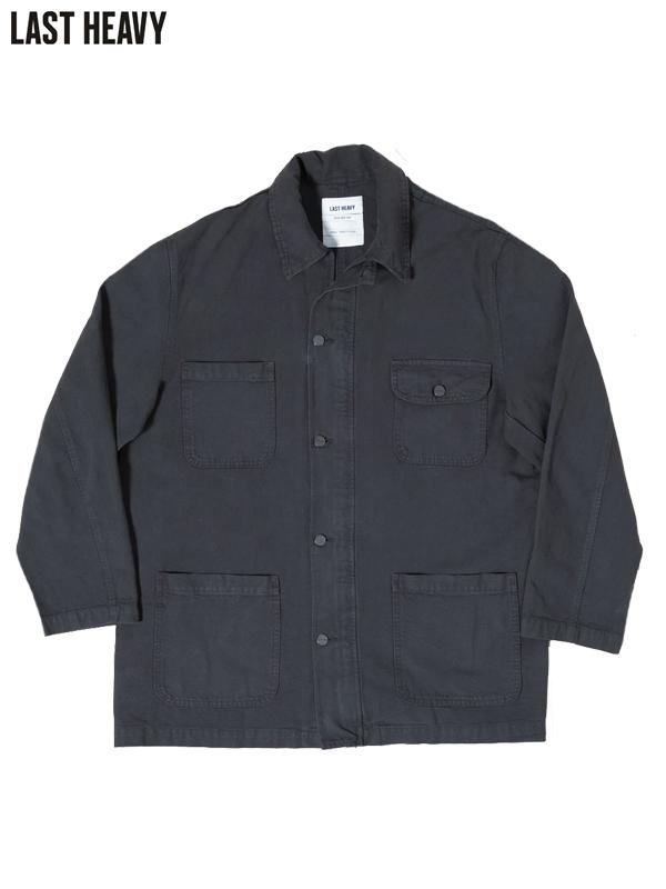 画像1: 50%OFF【LAST HEAVY - ラストヘビー】Chore Jacket / Washed Black Denim(カバーオール/ウォッシュドブラック) (1)