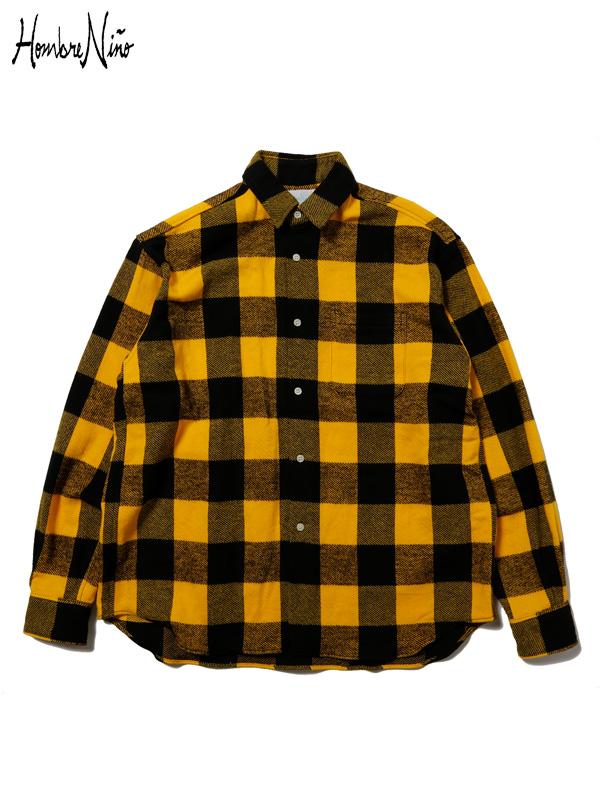 画像1: 【Hombre Nino - オンブレニーニョ】PLAID FLANNEL SHIRT / Yellow(シャツ/イエロー) (1)