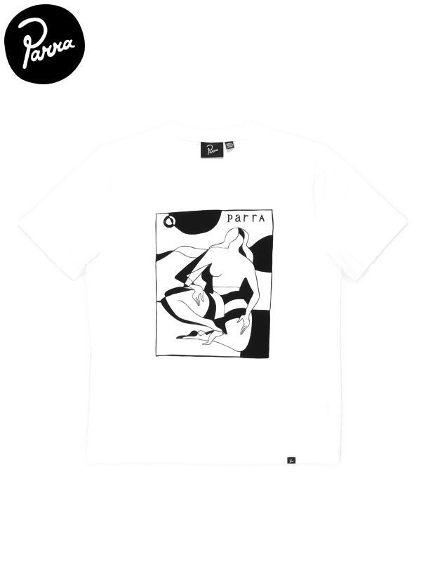画像1: 【by Parra - バイ パラ】Complicated Beach Scene T-shirt / White(Tシャツ/ホワイト) (1)