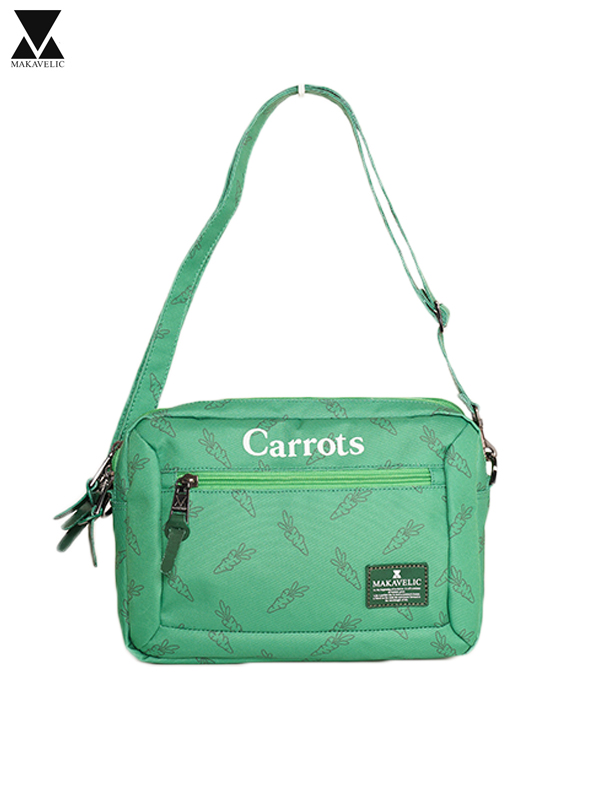 画像1: 70%OFF【MAKAVELIC - マキャべリック】MAKAVELIC×Carrots BILAYER POUCH BAG / Green (ポーチ/グリーン) (1)