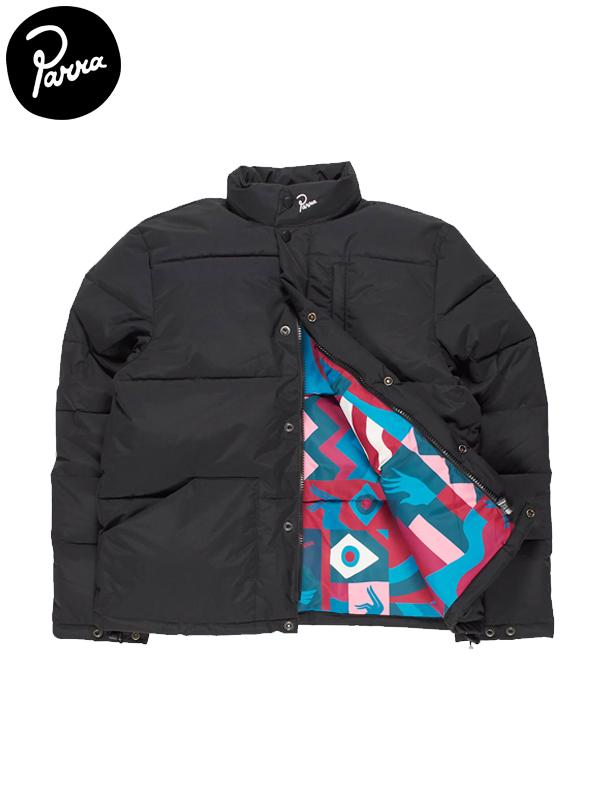 画像1: 【by Parra - バイ パラ】grab the flag pattern puffer jacket / Black(ジャケット/ブラック)  (1)