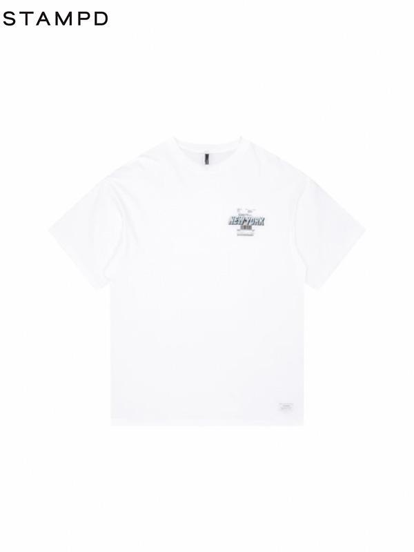 画像1: 【STAMPD - スタンプド】NY POST TEE / White(Tシャツ/ホワイト) (1)