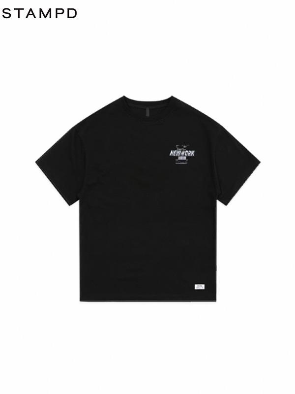 画像1: 【STAMPD - スタンプド】NY POST TEE / Black(Tシャツ/ブラック) (1)