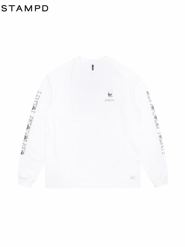 画像1: 【STAMPD - スタンプド】OBNOXIOUS YOUTH LS TEE / White(Tシャツ/ホワイト) (1)