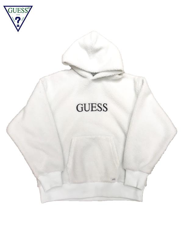 画像1: 【GUESS GREEN LABEL - ゲス グリーン レーベル】BOA GUESS HOODIE / White (フーディ/ホワイト) (1)