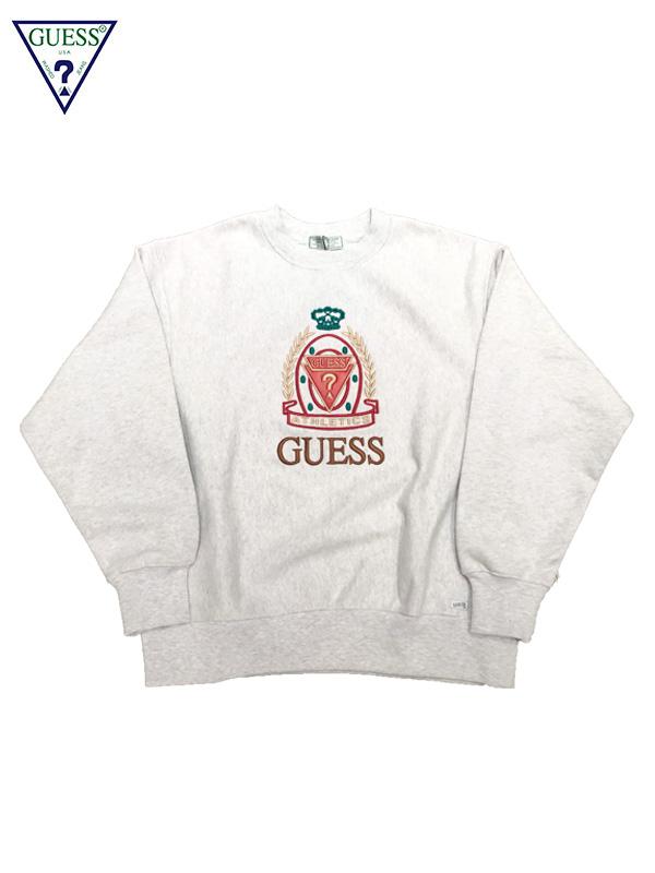 画像1: 【GUESS GREEN LABEL - ゲス グリーン レーベル】ATHLETICS SWEATER / Grey (スウェット/グレー) (1)
