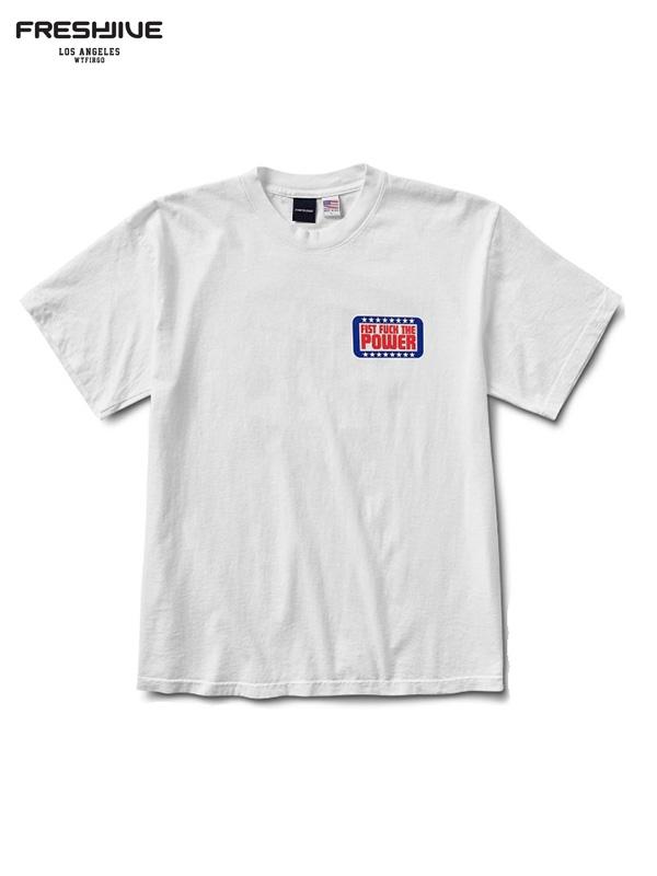 画像1: 【FRESHJIVE - フレッシュジャイブ】First The Power  tee/ White (Tシャツ/ホワイト) (1)