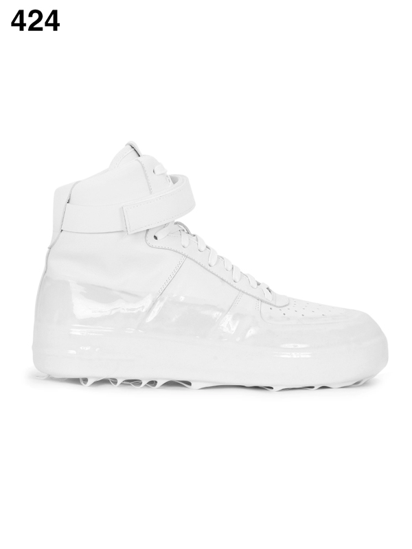 画像1: 【424 - フォートゥーフォー】High Top Dipped Sneaker / White (スニーカー/ホワイト) (1)