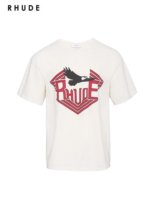 画像1: 【RHUDE - ルード】Rhanger Tee /White(Tee/ホワイト) (1)