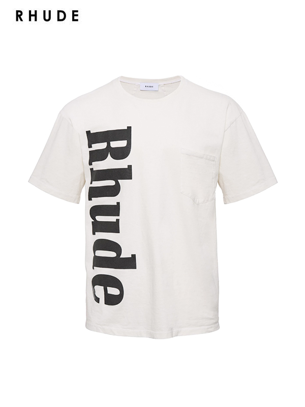 画像1: 30%OFF【RHUDE - ルード】Rhude Pocket Tee /White(Tee/ホワイト) (1)