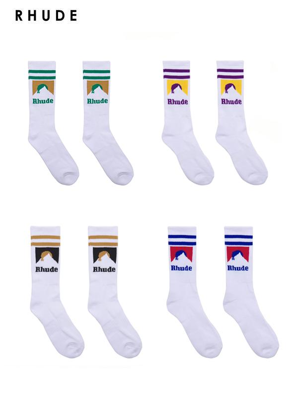 画像1: 【RHUDE - ルード】Mountain Logo Sock (ソックス)  (1)