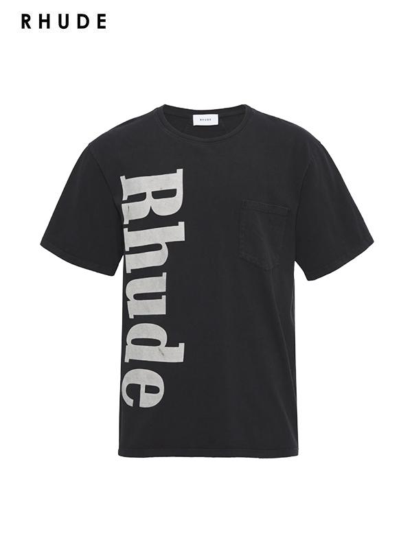 画像1: 50%OFF【RHUDE - ルード】Rhude Pocket Tee /Black(Tee/ブラック) (1)