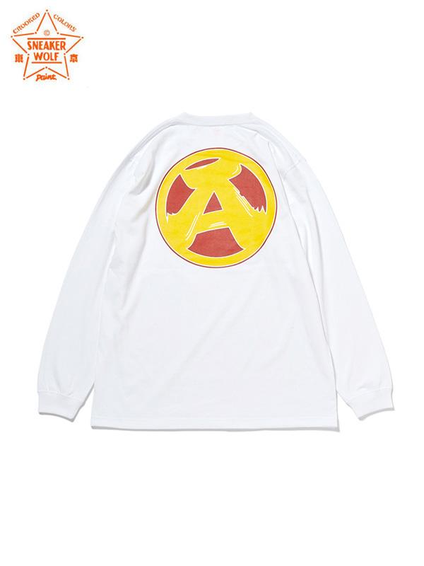 """画像1: 【The Wolf In Sheep's Clothing】""""PANX"""" L/S TEE / White(Tシャツ/ホワイト) (1)"""