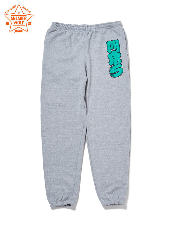 "画像1: 【The Wolf In Sheep's Clothing】""PARIS"" Sweat Pants / Heather Grey(スウェットパンツ/グレー) (1)"