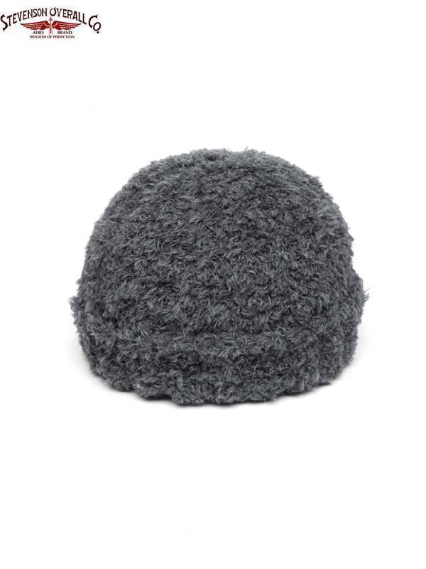 画像1: 【STEVENSON OVERALL Co. - スティーブンソン オーバーオール】Chenille Knit Cap - CC / Gray(ニットキャップ/グレー) (1)