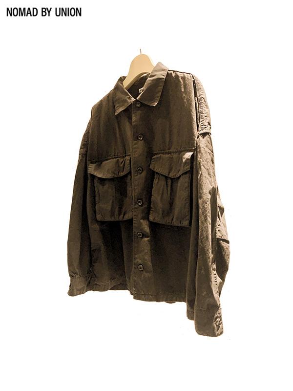 画像1: 【Nomad by UNION - ノバド バイ ユニオン】Typewriter shirt Jacket/ Beige(シャツ/ベージュ) (1)