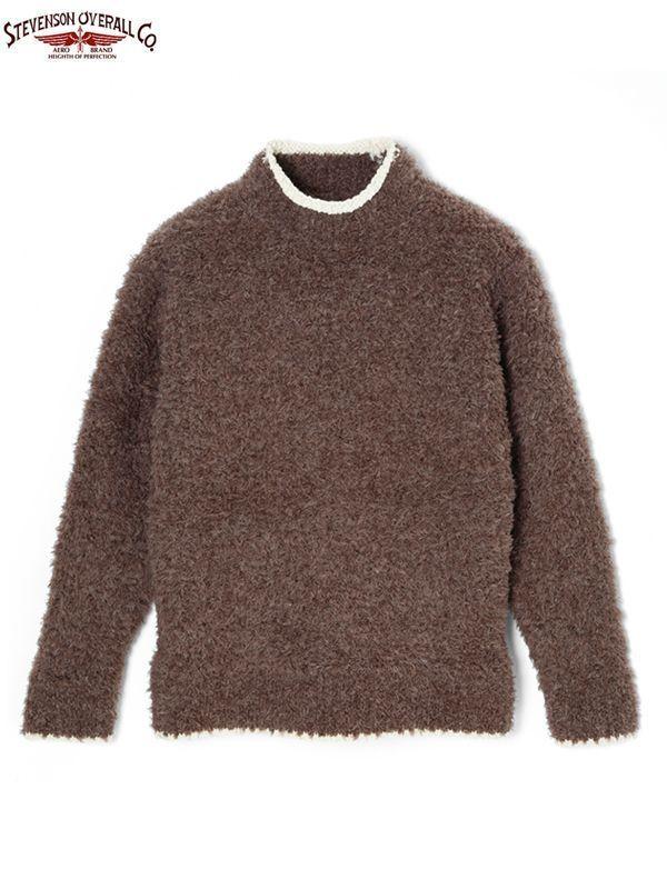 画像1: 【STEVENSON OVERALL Co. - スティーブンソン オーバーオール】Chenille Knit Sweater - CS / Coffee(セーター/コーヒー) (1)