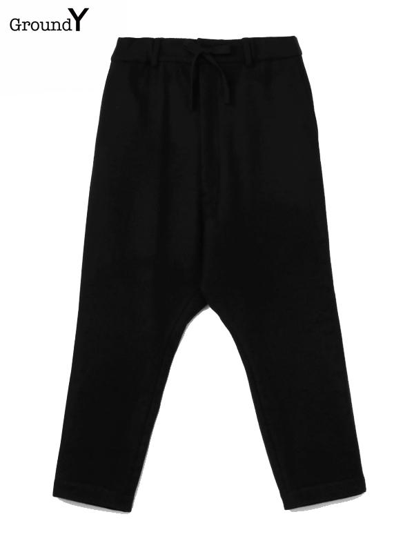 画像1: 【Ground Y  - グラウンドワイ】Drop hip pants / Black(パンツ/ブラック)  (1)