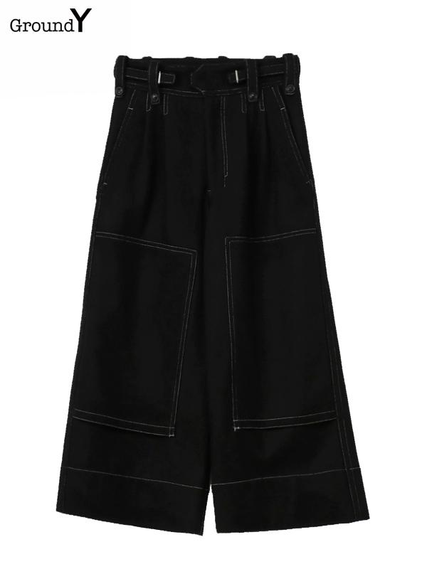 画像1: 【Ground Y  - グラウンドワイ】High waist baggy pants / Black(パンツ/ブラック)  (1)