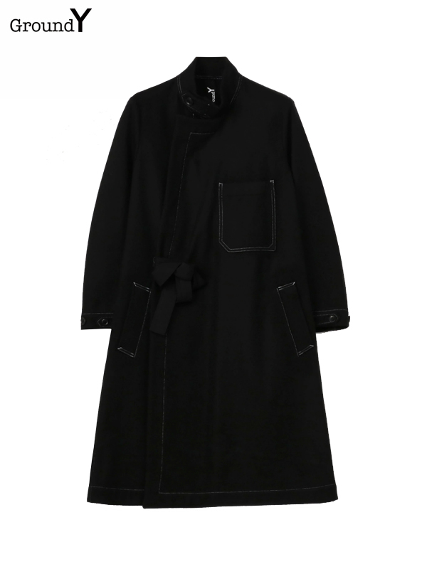 画像1: 【Ground Y  - グラウンドワイ】Wrap Dress / Black(パンツ/ブラック)  (1)