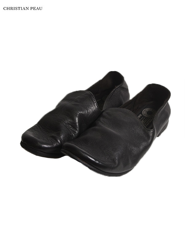 画像1: 【Christian Peau - クリスチャンポー】CP SLIPON / cow Leather / Black(スリッポンシューズ/ブラック) (1)