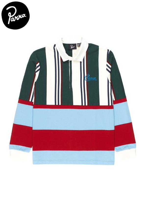 画像1: 30%OFF【by Parra - バイ パラ】Split personality rugby shirt / Multi(ラガーシャツ/マルチ) (1)