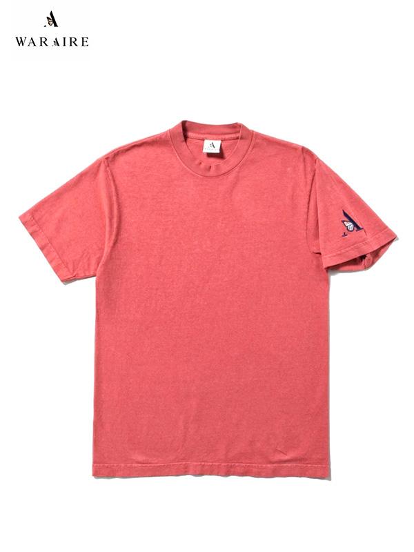 画像1: 70%OFF【WARAIRE - ウェアレ】EMBORIDERED S/S TEE /SALMON(Tシャツ/サーモン)  (1)