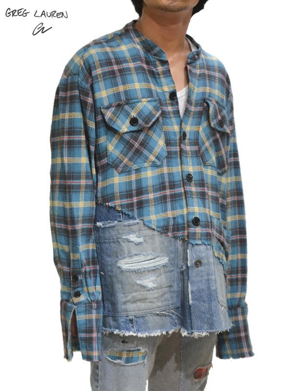 画像1: 30%OFF【GREG LAUREN - グレッグローレン】50/50 Boxy Studio Shirt /ranch / Denim  (スタジオシャツ/ブルー) (1)
