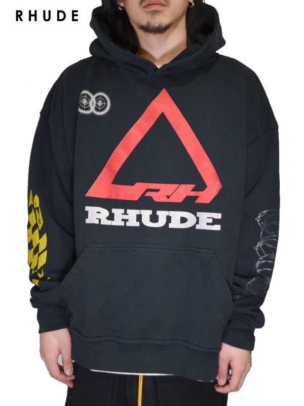 画像1: 50%OFF【RHUDE - ルード】Rhonda 2 Helmet Hoodie / Black(パーカー/ブラック) (1)