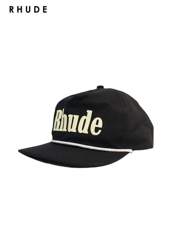画像1: 30%OFF【RHUDE - ルード】Rhude Logo Hat / Black(キャップ/ブラック)  (1)