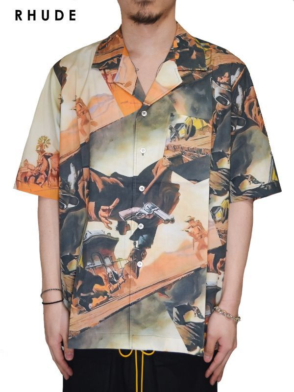 画像1: 30%OFF【RHUDE - ルード】Gunsliner S/S Hawaiian Shirt / Multi(シャツ/マルチ) (1)