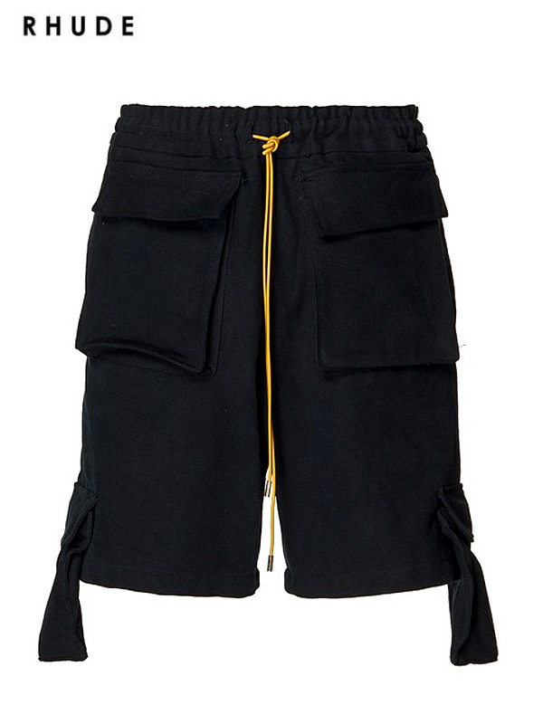 画像1: 60%OFF【RHUDE - ルード】Cargo Short /Black(ショーツ/ブラック) (1)