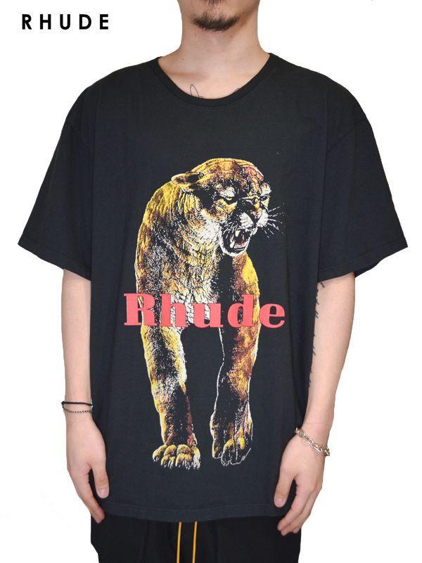 画像1: 20%OFF【RHUDE - ルード】Cougar Tee /Black(Tee/ブラック) (1)