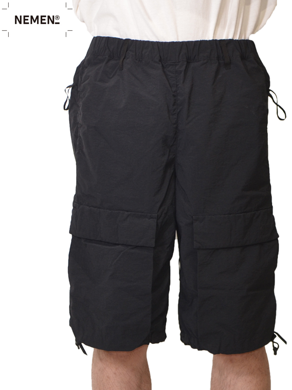 画像1: 【NEMEN - ネーメン】Woven Combat Short Pant / Black (ショーツ/ブラック) (1)