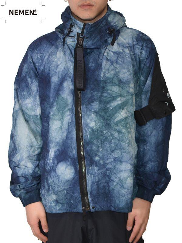 画像1: 50%OFF【NEMEN - ネーメン】Woven Jacket Twist Smock / Blue (ジャケット/ブルー) (1)