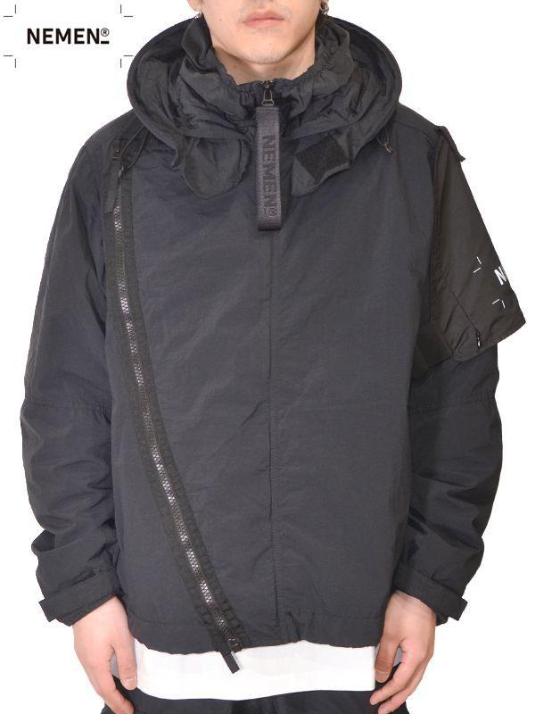 画像1: 【NEMEN - ネーメン】Woven Jacket Kate Short Parka / Black (ジャケット/ブラック) (1)