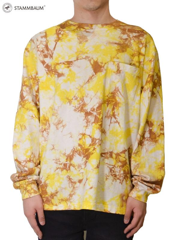 """画像1: 30%OFF【STAMMBAUM - シュタンバウム】Tie Dye """"L/S Tee 1"""" / Yellow(Tシャツ/イエロー) (1)"""
