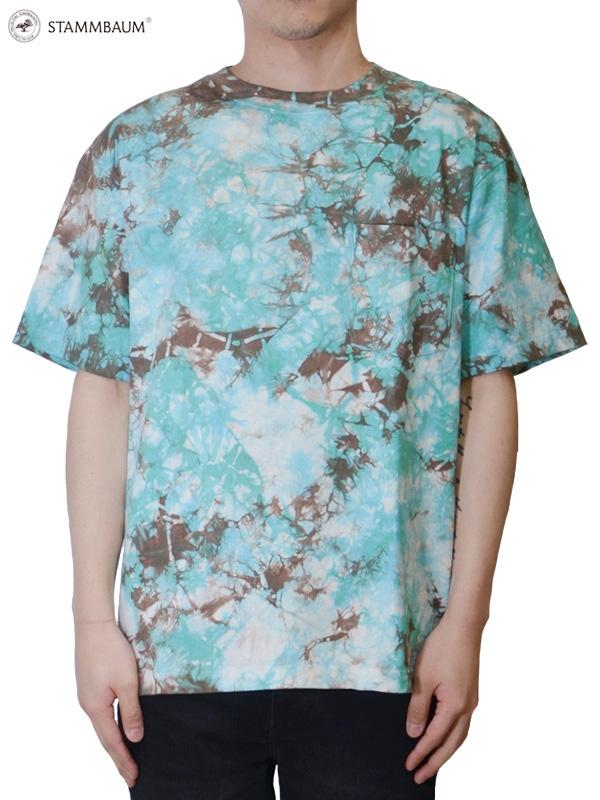 """画像1: 30%OFF【STAMMBAUM - シュタンバウム】Tie Dye """"S/S Tee 2"""" / Blue(Tシャツ/ブルー) (1)"""