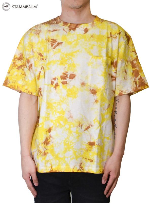 """画像1: 30%OFF【STAMMBAUM - シュタンバウム】Tie Dye """"S/S Tee 1"""" / Yellow(Tシャツ/イエロー) (1)"""
