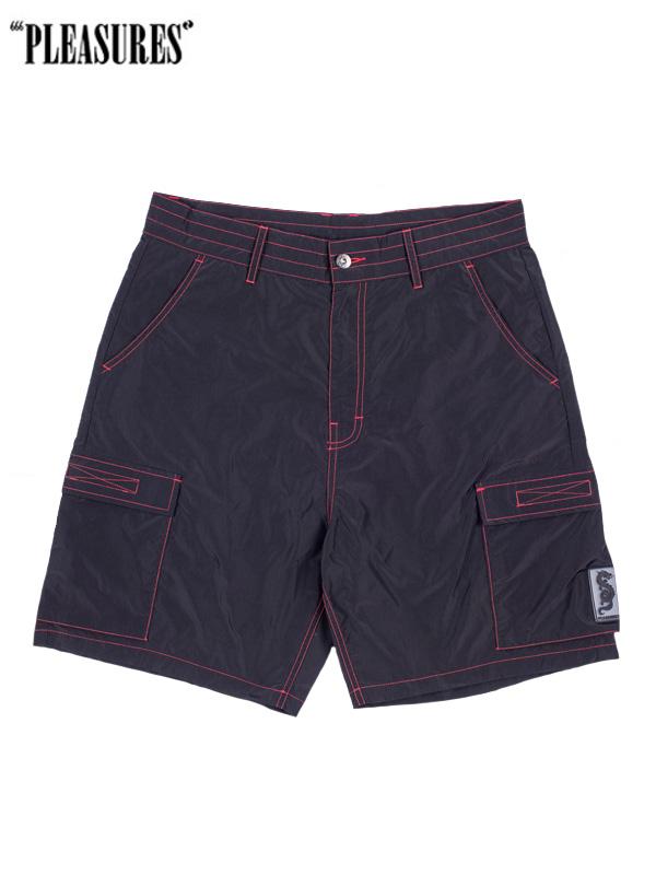画像1: 20%OFF【PLEASURES - プレジャーズ】Static Nylon Cargo Shorts/ Black(ショーツ/ブラック) (1)