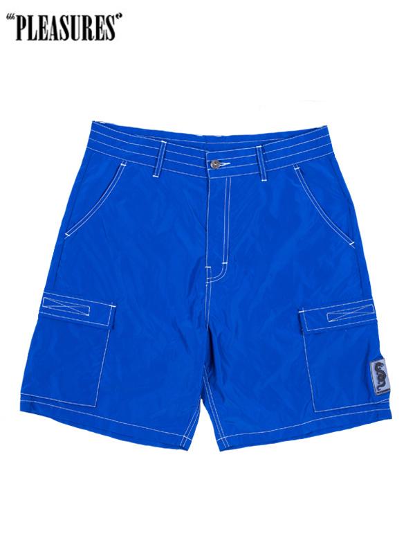 画像1: 50%OFF【PLEASURES - プレジャーズ】Static Nylon Cargo Shorts/ Blue(ショーツ/ブルー) (1)