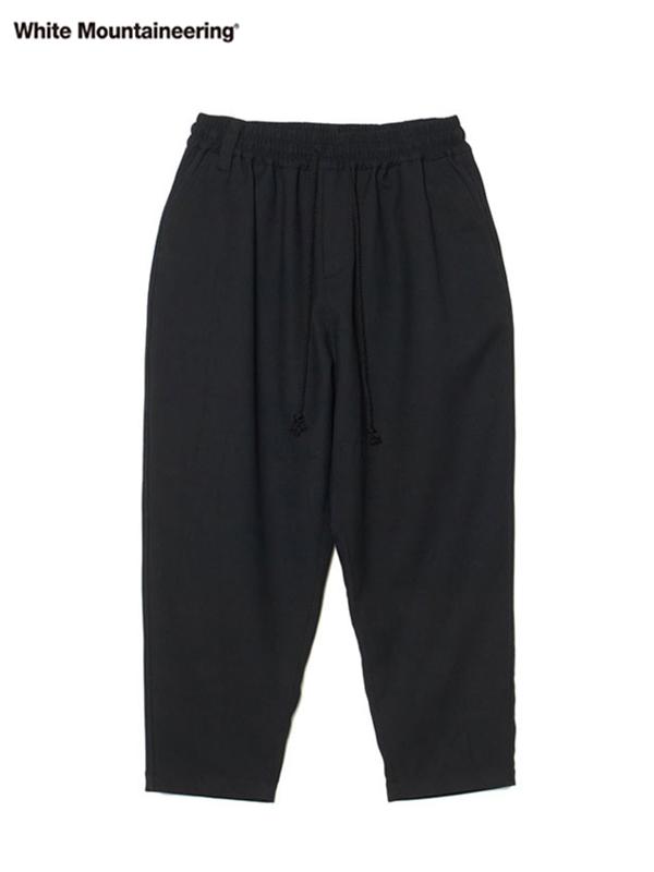 画像1: 30%OFF【White Mountaineering - ホワイトマウンテニアリング】Stretched Tapered Sarouel Pants / Black(パンツ/ブラック) (1)